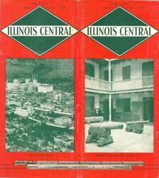 1948 Ic Illinois Central Railroad Passenger Train Schedules January