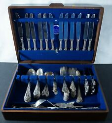 Wallace Rose Point Sterling Silver Flatware Box Set Of 100pc