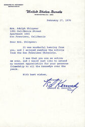 Edward Ted Kennedy - Typed Letter Signed 02/17/1976