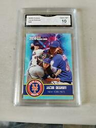 Jacob Degrom 2014 Gma Graded 10 Only Gold Rookie Card Ever Printed New York Mets