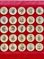 """🔥lot Of 25complete Collectionvintage Goebel Mj Hummel Annual 7""""plates 1971-95"""