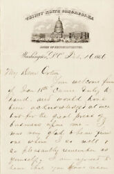James A. Garfield - Autograph Letter Signed 02/16/1866