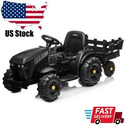 Kids Four Wheels Electric Car Tractor Ride On Farm Truck Car With Rear Bucket Us