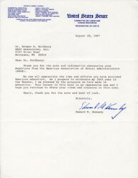 Edward Ted Kennedy - Typed Letter Signed 08/20/1987