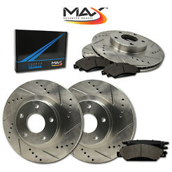 10 11 12 13 14 15 Volvo Xc60 Slotted Drilled Rotor W/metallic Pads F+r