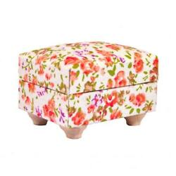 Dolls House Floral Cottage Foot Stool Miniature Chintz Living Room Furniture