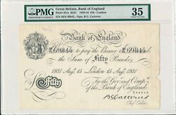 Bank Of England Great Britain 50 Pounds 1931 London Pmg 35