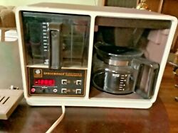 Vintage General Electric Spacemaker 10 Cup Coffee Maker With Pot Clock Works