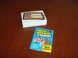 1980 Topps Wacky Packages 3rd Series Stickers Complete Set Of 66 Sharp Nm