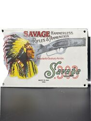 Andnbspvintage Style And039and039savage Armsand039and039 Guns Hunting Porcelain Dealer Plate 12x8 Inch