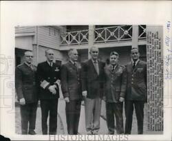 1963 Press Photo President Lyndon B. Johnson With The Joint Chiefs Of Staff