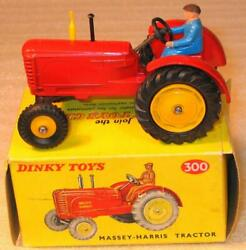 Dinky Toys No 300.massey-harris Tractor Rare Late Issue With No Decals Boxed