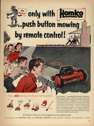 The Homko Robot Electic Lawn Mower By Remote Control Ad 1954 L