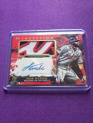 2021 Topps Inception Luis Garcia Red Rpa /25 Rookie Patch Auto. Nationals.