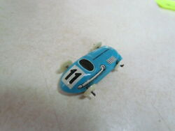 Vintage 1950's U.s. Zone Germany Tin Lithograph Small Race Car 11 Sky Blue