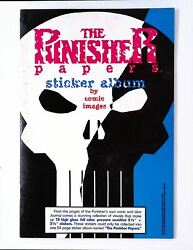 The Punisher Papers Sticker Album Fn+ Unused No Stickers Scarce Marvel Comics