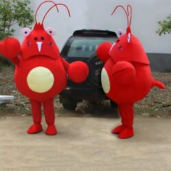 Lobster Mascot Costume Suits Cosplay Party Game Ad Carnival Xmas Easter Adults