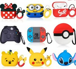 3D Cute Cartoon Airpods Silicone Case for Apple Airpod 1 2 amp; Pro Accessories $6.99