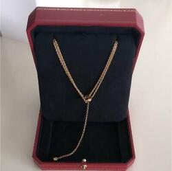 Used Genuine Discontinued Trinity Necklace Yellow Gold Ladies 930/sk