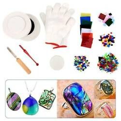 10pcs Diy Professional Microwave Kiln Kit Stained Glass Fusing Supplies Glass