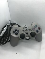 Sony Playstation 2 Ps2 Dual Shock Analog Wired Gray Controller Scph-1200 Oem