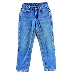 Women's Blue Riveted Lee Relaxed Comfortable Fit Jeans Cotton Tag N/a 29x27