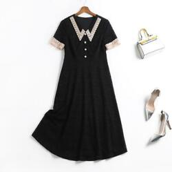 Summer thin style personalized button design comfortable short sleeve dress $99.00