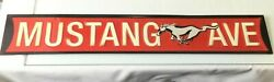 Mustang Ave Metal Sign Wall Decoration Home/shop Decor 21 X 3-1/2