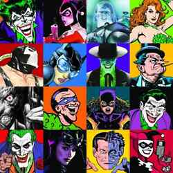 Dc Faces Of Evil Canvas Signed 9x's-alex Ross/neal Adams/p. Dini/b. Timm/jim Lee