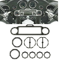 Motorcycle Black Stereo Accent Speedometer Speaker Trim Ring For Harley Touring