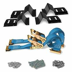 Dc Cargo Mall Atv Wheel Chock And Strap Kit   Trailer Tie Down System For Atvandrsquos