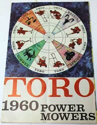 Vintage Toro 1960 Power Lawn Mowers Fold Out Brochure Good Reference Photos