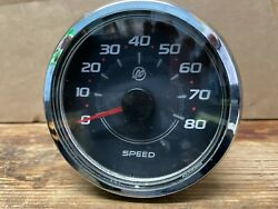 Used Outboard Mercury Smart Craft Analog Speedometer 0 - 80 Mph