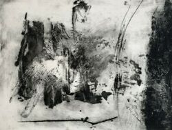 Marie-genevieve Havel 1931-2017 At. Henri Goetz - Eau-forte Abstraction 8