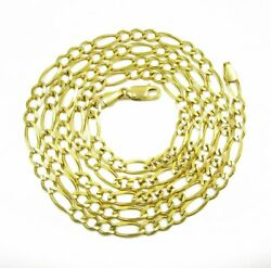 14k Yellow Gold Solid Figaro 1.5mm - 8.5mm High Polish Link Necklace Chain