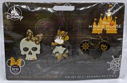 Disney Minnie Mouse Main Attraction Pirates Caribbean Ears Series Set 2/12 Pins