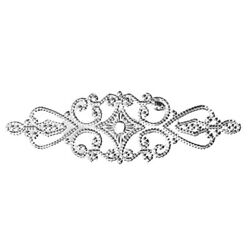 10 Silver Filigree Stamping 3 5/8 Inches Marquise Bendable Focal Bead Cabochons
