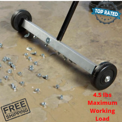 Rolling Magnetic Floor Sweeper 17 Inch For Mini Small Metal Items Retrieval New