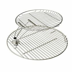 Stainless Steel Barbecue Cooking Grate Combo Kit For Large Big Green Egg ...