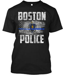 Teespring Boston Police Classic T Shirt 100% Cotton By One Nation Design