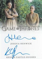Game Of Thrones Inflexions Dual Autograph Jessica Henwick And Keisha Castle-hughes