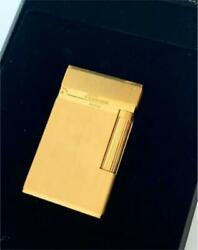 Opening And Closing Sound Pleasant Dupont Hairline Gold Gas Lighter Line