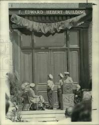 1972 Press Photo Officers During Ceremonies At F. Edward Heber Building Algiers