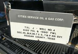 Original Porcelain Cities Service Oil And Gas Sign Gas And Oil