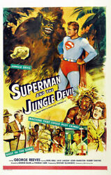 Superman And The Jungle Devil Movie Poster 27x40 Reprint 27x40 Usa Seller