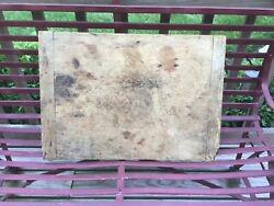 Antique Very Early Primitive Wooden Cutting/bread/charcuterie Board Square Nails