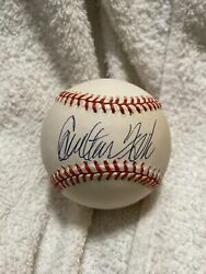 Carlton Fisk Autographed Signed Vintage Oal Baseball Red Sox Clean Bold Ball Sig