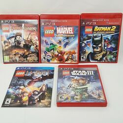 Lego Game Bundle 5 Play Station 3 Lego Video Games Ps3