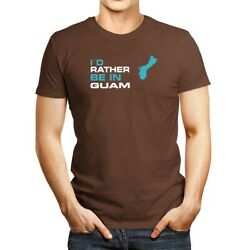 Iand039d Rather Be In Guam Map T-shirt