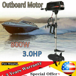 3hp 800w Brushless Electric Outboard Motor Inflatable Boat Engine 24v Heavy Duty